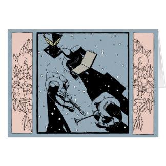 Birdseye View of Carolers Card