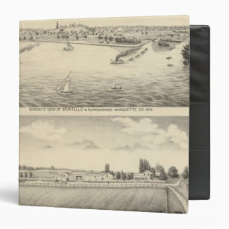 Birdseye view of Montello Vinyl Binder