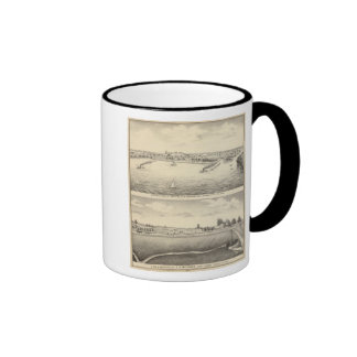 Birdseye view of Montello Ringer Coffee Mug