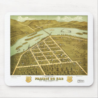 Birdseye view of Prairie du Sac, Wisconsin 1870 Mouse Pad