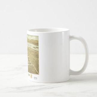Birdseye view of Prairie du Sac, Wisconsin 1870 Classic White Coffee Mug