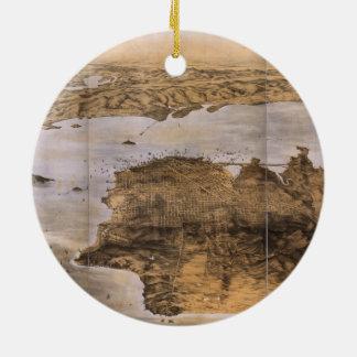 Birdseye View of San Francisco California (1876) Ceramic Ornament