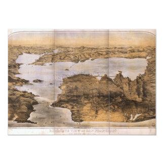 Birdseye View of San Francisco California (1876) Announcement Card