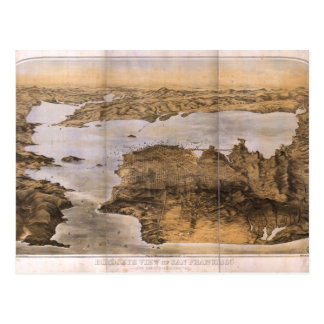 Birdseye View of San Francisco California (1876) Postcard