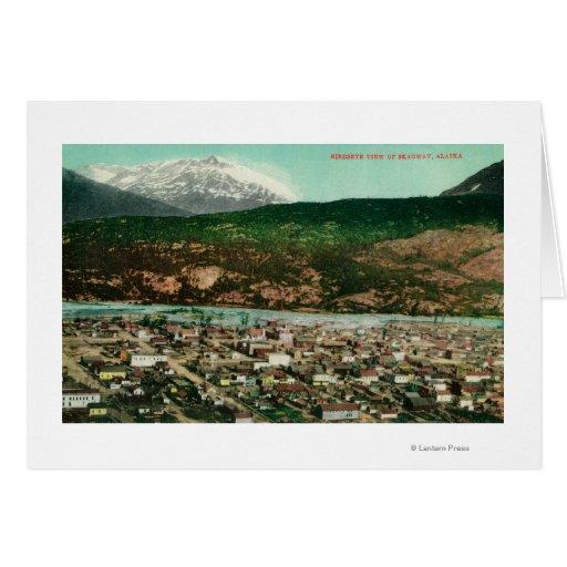 Birdseye View of Skagway, AlaskaSkagway, AK Greeting Card