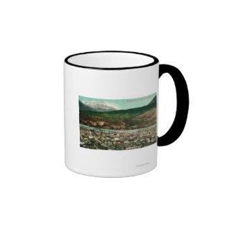 Birdseye View of Skagway, AlaskaSkagway, AK Ringer Coffee Mug
