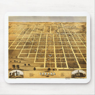 Birdseye view of Urbana, Illinois (1869) Mouse Pad