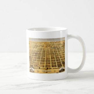 Birdseye view of Urbana, Illinois (1869) Classic White Coffee Mug