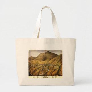 Birdseye view of Virginia City, Nevada (1861) Jumbo Tote Bag