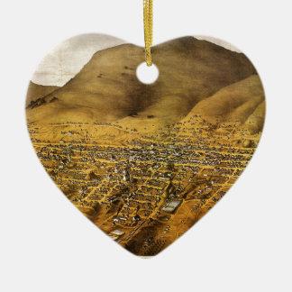 Birdseye view of Virginia City, Nevada (1861) Ceramic Ornament