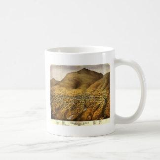 Birdseye view of Virginia City, Nevada (1861) Classic White Coffee Mug