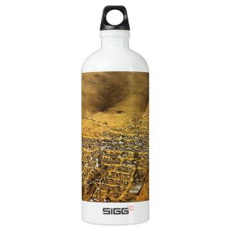Birdseye view of Virginia City, Nevada (1861) Water Bottle