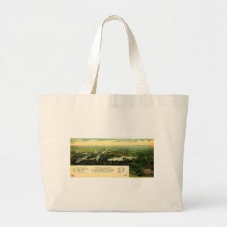 Birdseye view of Waukesha County Wisconsin 1890 Jumbo Tote Bag