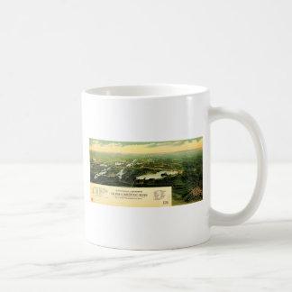 Birdseye view of Waukesha County Wisconsin 1890 Classic White Coffee Mug