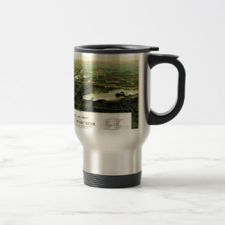 Birdseye view of Waukesha County Wisconsin 1890 15 Oz Stainless Steel Travel Mug