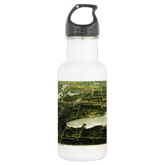 Birdseye view of Waukesha County Wisconsin 1890 Water Bottle