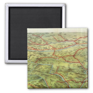 Birdseyes View Great Plains 2 Inch Square Magnet