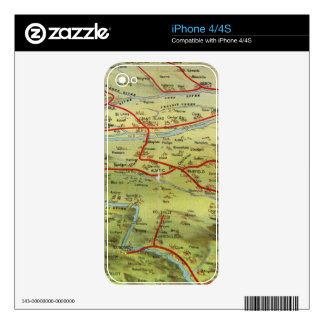Birdseyes View Great Plains Decal For iPhone 4