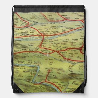 Birdseyes View Great Plains Drawstring Bags