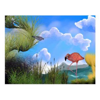 birdslake2 postcard