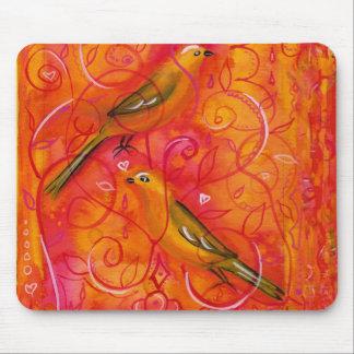Birdsong Wispy Illustration Mousepad