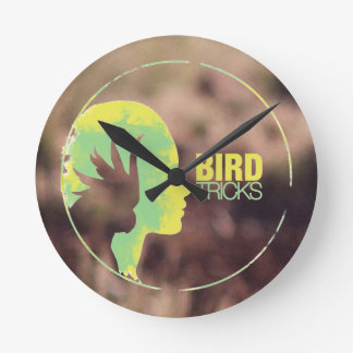 BirdTricks Logo (Moab Edition) Round Clock