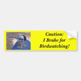 Birdwatcher Brake Bumper Sticker