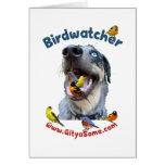 Birdwatcher Dog Greeting Cards