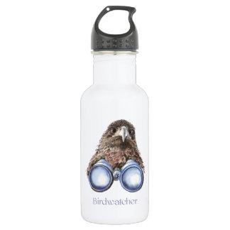 Birdwatcher Hawk Bird Watching You Humor Water Bottle