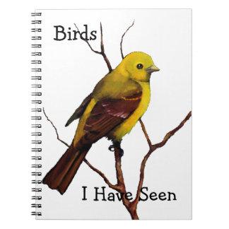Birdwatchers: Arte a pulso: Chickadee: Fauna Libreta Espiral