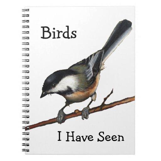 Birdwatchers: Arte a pulso: Chickadee: Fauna Libros De Apuntes