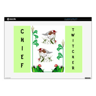 "Birdwatchers delight 15"" laptop skin"