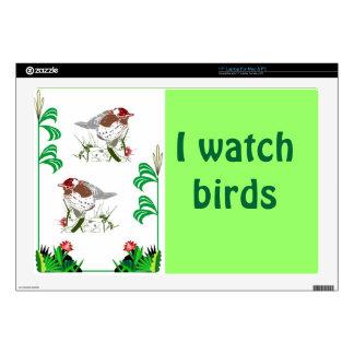 """Birdwatchers delight 17"""" laptop decals"""