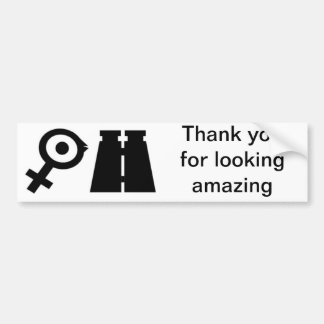 Birdwatching, Thank you for looking amazing Bumper Sticker