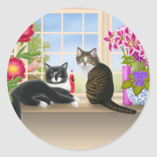 Birdwatching with Pansy & Felix Sticker