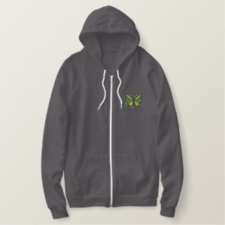 Birdwing Butterfly Embroidered Hoodie