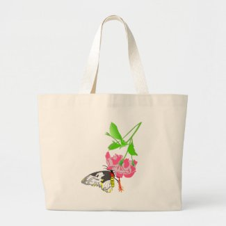 Birdwing Butterfly Large Tote Bag