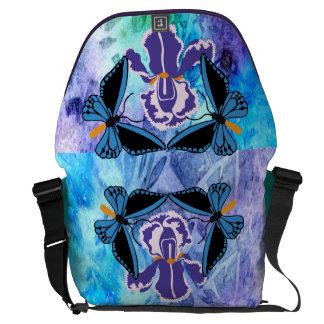 Birdwing Butterfly on Iris Messenger Bag