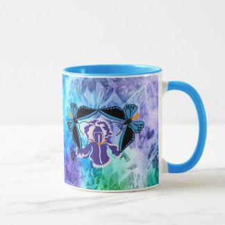 Birdwing Butterfly on Iris Mug