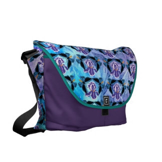 Birdwing Butterfly on Iris Pattern Courier Bag