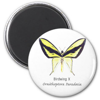 Birdwing X Butterfly with Name 2 Inch Round Magnet