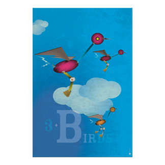 Birdy Bots - BLUE Poster