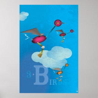Birdy Bots - BLUE Poster