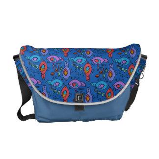 Birdy geometric nature stylish pattern messenger bag