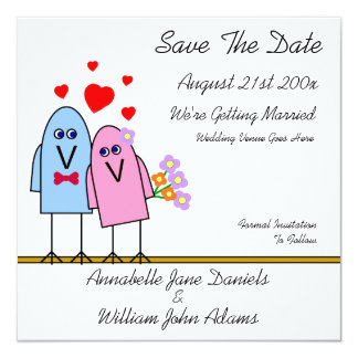 Birdy Love ~ Save The Date Card