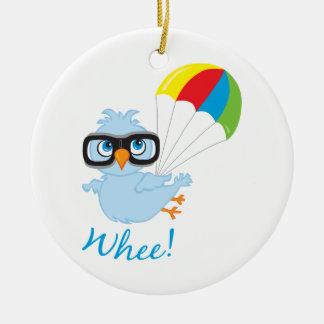 Birdy Parachute Ceramic Ornament