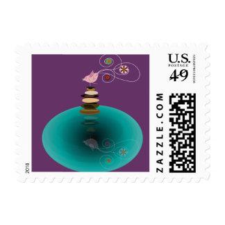 Birdy un franqueo de la actitud de la pierna timbres postales