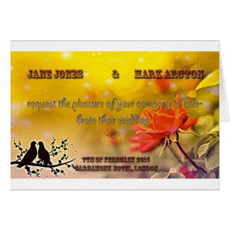 Birdy Wedding Invitation Greeting Card