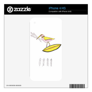 Birdy with twig arrows iPhone 4 decals