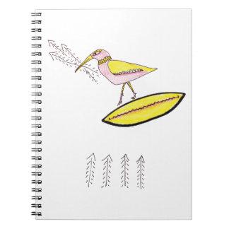 Birdy with twig arrows notebook